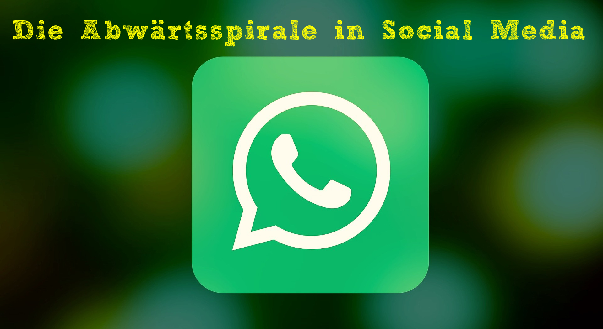 Die Abwärtsspirale in Social Media