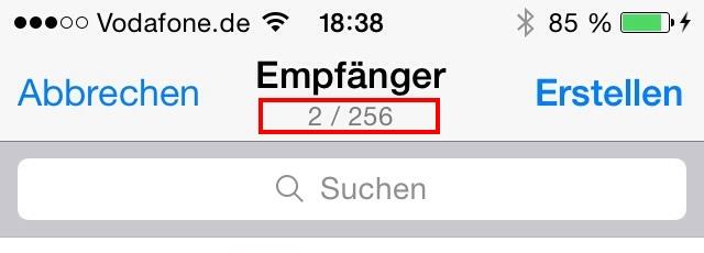 WhatsApp Broadcast Listen - 256 Empgänger