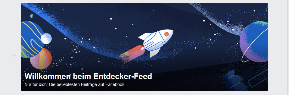 Facebook Entdecker-Feed
