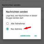 WhatsApp Gruppe - stumm schalten 3