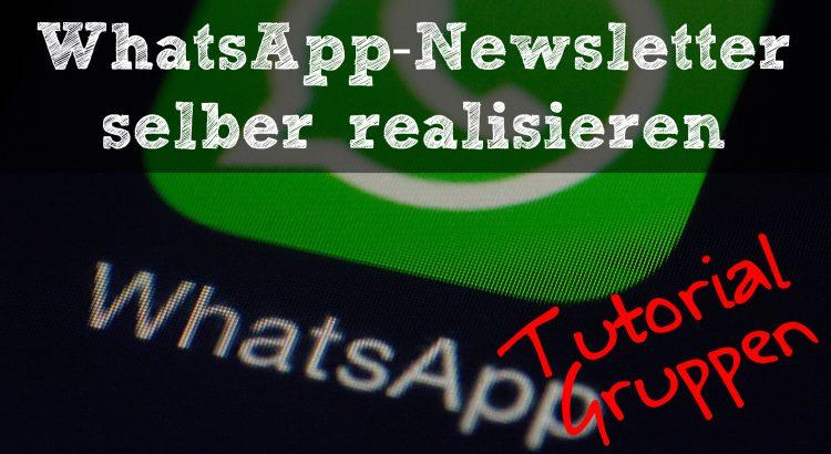 whatsapp newsletter - header tutorial - Gruppen
