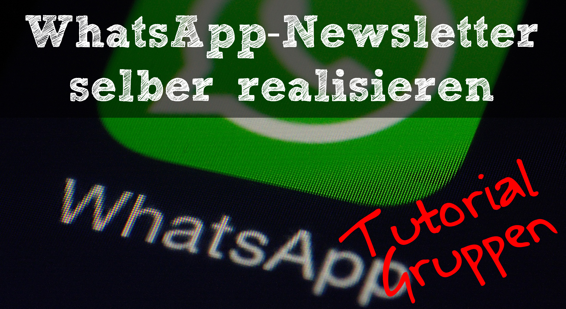 whatsapp newsletter - header tutorial - Gruppen