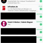 insta app - whatsapp newsletter anonym empfangen