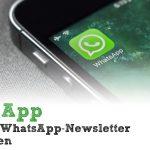 Insta App – anonym WhatsApp-Newsletter empfangen