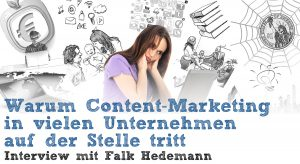 Content-Marketing: Interview Falk Hedemann - Header